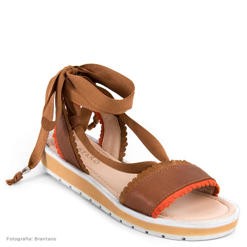 sandalias bajas con cordon
