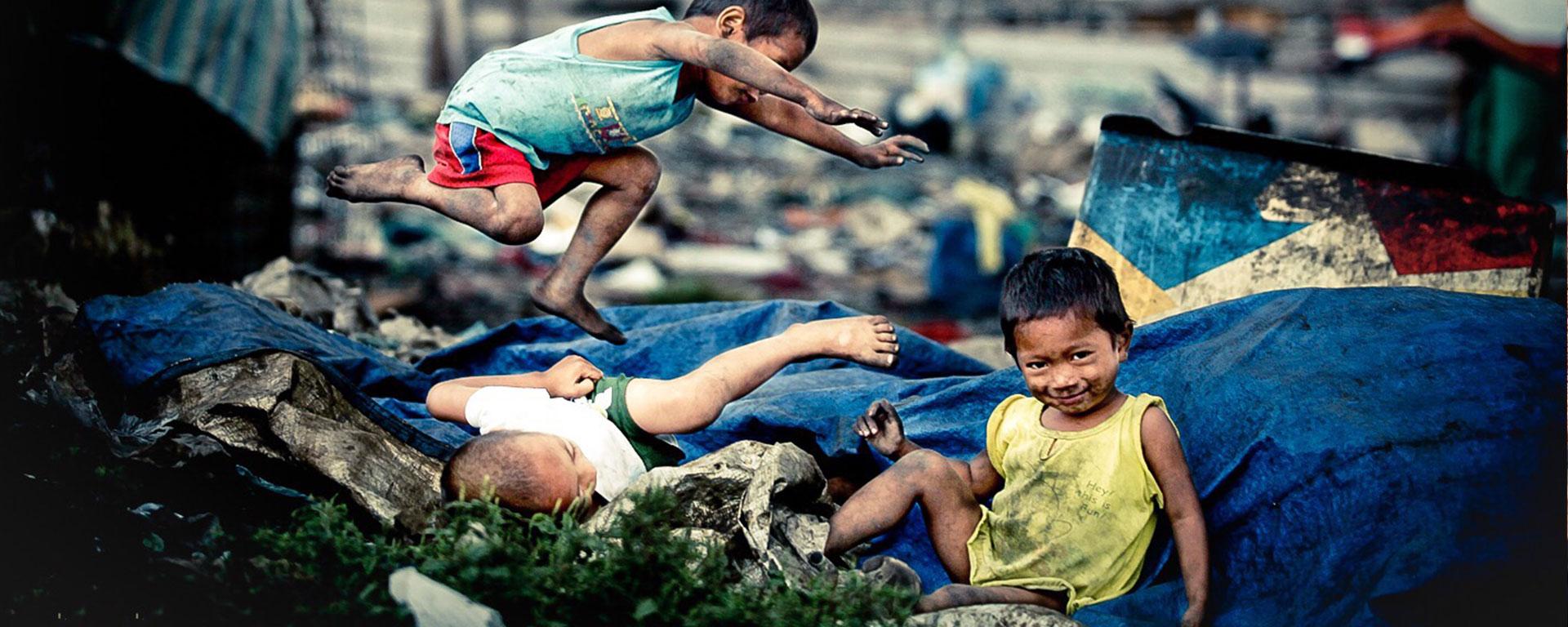 street kids playing